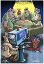 Cartoon: Live OP (small) by Ridha Ridha tagged live op critical cartoon medicine tv media by ridha