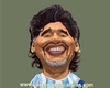 Cartoon: Maradona (small) by carcoma tagged football,legend,diego,maradona,carcoma,caricatura,caricature,sport,deporte,futbol,argentina,boca,napoli,barcelona