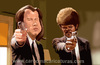Cartoon: Pulp Fiction (small) by carcoma tagged caricature,humor,caricatura,cine,pelicula,film,travolta,jackson,tarantino