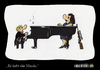 Cartoon: Er liebt die Musik (small) by Carlo Büchner tagged musik piano