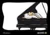 Cartoon: Musiker... (small) by Carlo Büchner tagged musik piano