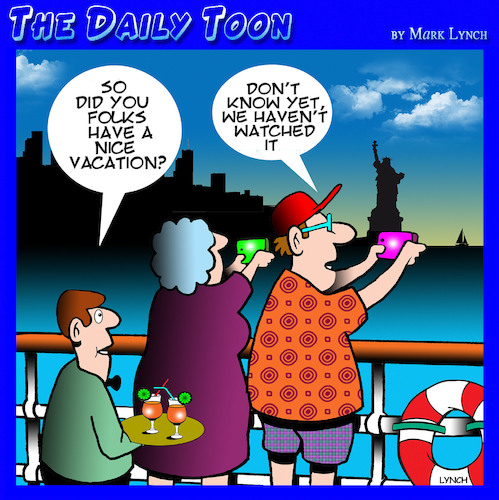 Cartoon: Cruise holidays (medium) by toons tagged selfies,cruises,tourists,recording,holidays,photography,cruise,liners,selfies,cruises,tourists,recording,holidays,photography,cruise,liners