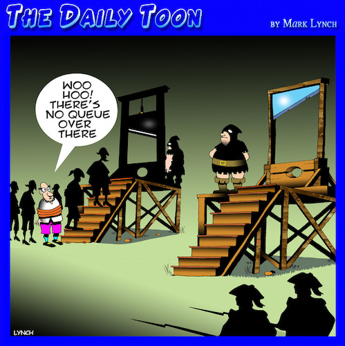 Cartoon: Guillotine (medium) by toons tagged queues,guillotine,wait,in,line,medieval,times,death,penalty,french,revolution,queues,guillotine,wait,in,line,medieval,times,death,penalty,french,revolution