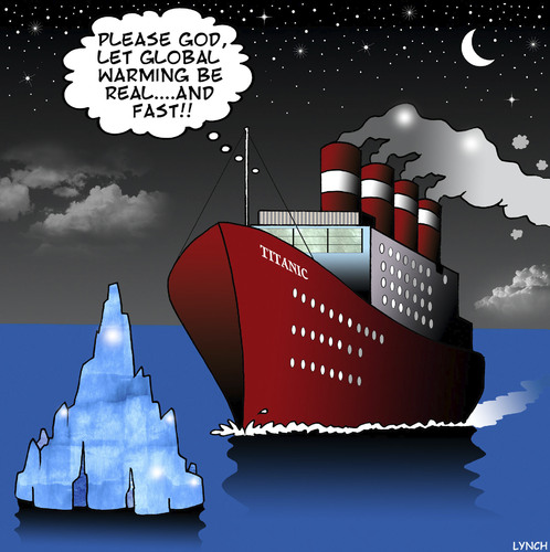 Cartoon: Please God (medium) by toons tagged titanic,global,warming,melting,ice,caps