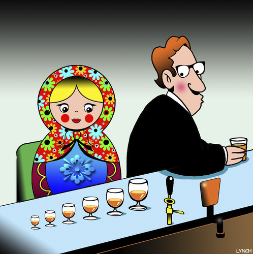 Cartoon: Russian doll (medium) by toons tagged russian,doll,alcohol,consumption,wine,dolls,fairy,tales,russian,doll,alcohol,consumption,wine,dolls,fairy,tales