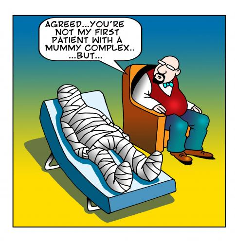 Cartoon the mummy complex medium by toons tagged psychiatrist