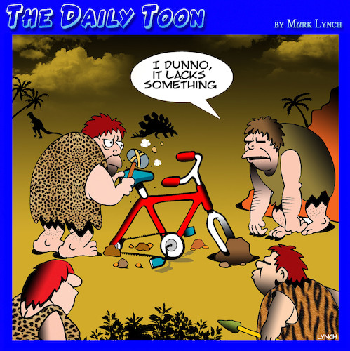 Cartoon: The Wheel (medium) by toons tagged bicycle,inventions,the,wheel,caveman,critics,mother,of,invention,bicycle,inventions,the,wheel,caveman,critics,mother,of,invention