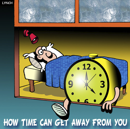 Cartoon: Time gets away (medium) by toons tagged clocks,time,alarm,ageing,watches