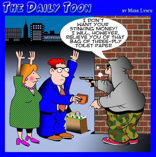 Toilet paper von toons | Wirtschaft Cartoon | TOONPOOL