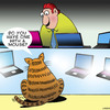Cartoon: A mouse (small) by toons tagged cats,mice,mouse,laptops,computers,ipad,tablet