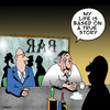 Cartoon: a true story (small) by toons tagged drinking film script drunk life alcohol