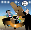 Cartoon: Ah Ha (small) by toons tagged music piano concert maistro