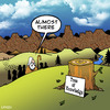 Cartoon: almost there (small) by toons tagged tree,of,knowledge,logging,moses,prophet,intelligence,bible,burning,bush,prophecy,religion,god