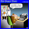 Cartoon: Animal research (small) by toons tagged monkeys,typewriters,animal,experiments,typing,antiques,apes,evolution