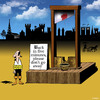 Cartoon: back in five (small) by toons tagged guillotine,french,revolution,execution,death,penalty