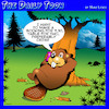 Cartoon: Beaver booking (small) by toons tagged beavers,restaurant,booking,timber,cedar,animals