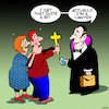 Cartoon: Bloodsucker (small) by toons tagged lawyers,vampires,bloodsucker,crucifix