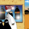 Cartoon: Blow up dolls (small) by toons tagged blow,up,dolls,suicide,bomber,sex,shop,islam,middle,east,burqa