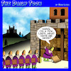 Cartoon: Castle siege (small) by toons tagged medieval,times,castle,siege,key,under,the,mat