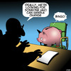Cartoon: Change management (small) by toons tagged piggy,bank,change,management,handling,animals,pigs