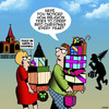 Cartoon: Christmas (small) by toons tagged christmas xmas consumerism presents bying spree