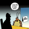 Cartoon: Cocky (small) by toons tagged cockroach,employment,jobs,insects
