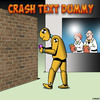 Cartoon: Crash text dummy (small) by toons tagged crash,test,dummy,texting,text,while,driving