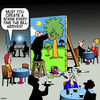Cartoon: Creating a scene (small) by toons tagged restaurant,bill,creating,scene,theater,props,scenery