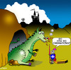 Cartoon: cremation (small) by toons tagged cremation,funerals,death,dragons,knights,medievil