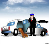 Cartoon: Dachshund limo (small) by toons tagged dachshunds,dogs,limousine,chauffeur,pampered,pets,first,class,animals,transport,taxi