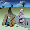 Cartoon: Death ambush (small) by toons tagged angel,of,death,ageing,old,people