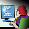 Cartoon: Delete cookies (small) by toons tagged diets,overweight,fat,delete,cookies