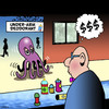 Cartoon: deodorant (small) by toons tagged personal,hygene,deodorant,octopus,squid,soap