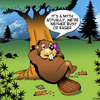 Cartoon: Eager Beaver (small) by toons tagged beaver,busy,as,eager,myths,hard,worker