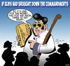 Cartoon: Elvis (small) by toons tagged elvis,presley,ten,commandments,blue,suede,shoes,moses,the,king,of,rock,and,roll