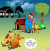 Cartoon: en suite (small) by toons tagged dogs,dog,habits,en,suite,toilet,bathroom,animals,new