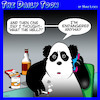 Cartoon: Endangered species (small) by toons tagged panda,endangered,animals,smoking,heavy,drinker