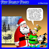Cartoon: Environmental lobby (small) by toons tagged santa,coal,christmas,lump,of,in,stocking,naughty,children,santas,elves