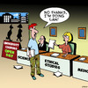 Cartoon: Ethical studies (small) by toons tagged lawyers,university,education,careers,open,day