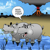 Cartoon: Farting Hippo (small) by toons tagged volcano,hippo,farting