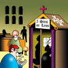 Cartoon: five sins or less (small) by toons tagged religion confession sinning sins deadly priest minister church catholics commandments pennance