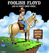 Cartoon: Foolish Floyd (small) by toons tagged bungee,jump,horses,extreme,sports,skydiving,absailing,animals,cowboys