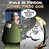 Cartoon: found God (small) by toons tagged god,jail,prison,prisoner,crime,criminal