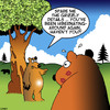 Cartoon: Grizzly details (small) by toons tagged bears,hibernation,infidelity,animals,lipstick,grizzly,bear