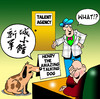 Cartoon: Henry (small) by toons tagged dogs,circus,talent,agents,performers,china,chinese,agency,talking,dog,animals