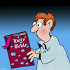 Cartoon: Holy Bible (small) by toons tagged bible,studies,koran,holy,book