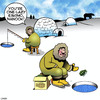 Cartoon: Ice fishing (small) by toons tagged eskimo,explosives,hand,grenade,ice,fishing,arctic,fisherman,lazy
