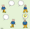Cartoon: idea man (small) by toons tagged thought bubble comic ideas man thinking light bulb idea thoughts comics revelation watch this space thoughtless dumb