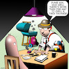 Cartoon: Interrogation (small) by toons tagged sausages,police,interrogation,bbq,meat,cops,questioning