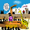 Cartoon: long day (small) by toons tagged hangman,girrafe,animals,executioner,medievil,torture,guillotine,death,hanging